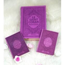 Coffret/Pack Cadeau Mauve pour femmes musulmanes : Le Saint Coran, Chapitre Amma (Juz'...