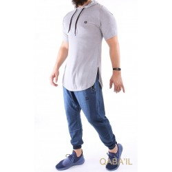 Qabail short-sleeved T-shirt - Light Grey Color