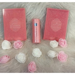 Muslim Woman's Gift: The Muslim Citadel + Qur'an Chapter Amma + assorted pink perfume