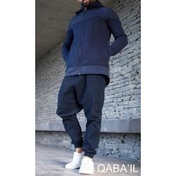 Qaba'il MONTANA coat - Indigo blue