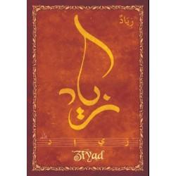 "Arabic male first name postcard ""Ziyad"" - زياد"