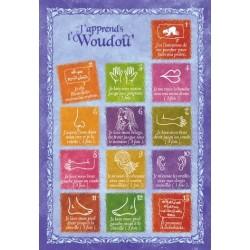 """Postcard """"J'apprends le woudou (ablution)"""" - Girls version"""