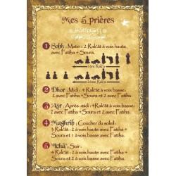"Postcard ""My five prayers"""