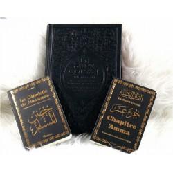 Pack Cadeau noir doré (français/arabe/phonétique) : Le Saint Coran Rainbow, Chapitre...