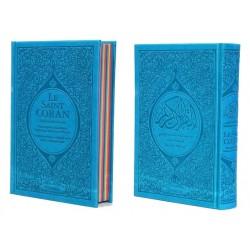 Pack N°2 de 5 Corans de luxe en 5 couleurs de couvertures différentes : Le Saint Coran...