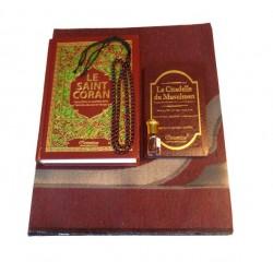 Coffret Cadeau Homme (Bordeaux) : Le Saint Coran Phonétique et La Citadelle du musulman...