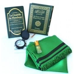 Pack Cadeau voyageur vert : Le Saint Coran Bilingue (arabe-français) + La Citadelle du...