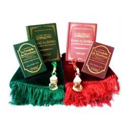 Pack double cadeaux Vert et bordeaux : Ryâd es-Salihîne, La Citadelle du Musulman,...