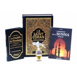 Pack Cadeau Noir pour hommes : Le Saint Coran et La Citadelle du musulman...
