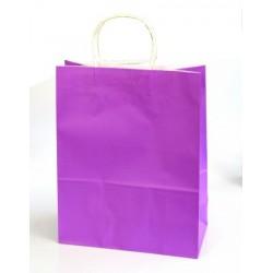 Grand sac cadeau mauve (33 x 26 x 12 cm)