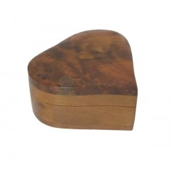 Simple Thuja Wood Heart Shaped Handmade Jewelry Box