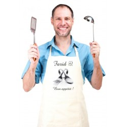 Cooking apron customizable to your choice (for women or men) - Heart cutlery