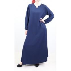 Robe évasée col V - Marque Amelis Paris - Couleur bleue