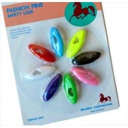 Pack of 8 multicolored oval hijab pins