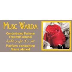 """Concentrated perfume without alcohol """"Musk Warda"""" (8 ml) - For women"""