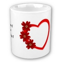 Personalized mug (names, messages, etc.): Heart