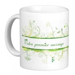 Personalized mug (name, message, etc.): Green nature