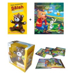 """Pack Nounours Sâlah + Livre """"J'apprends la vertu et les bonnes manières avec Sâlah"""""""