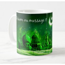 Personalized mug to offer to pilgrims (Hadj / Hadja) with 2 messages or first name and...