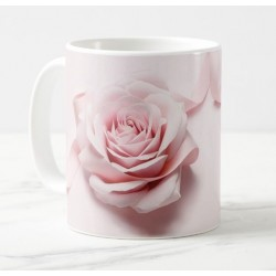 Mug with personalized message (light pink)