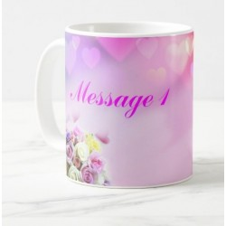 Mug with personalized messages (pink heart)