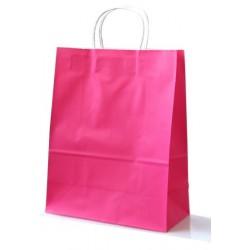 Grand sac cadeau rose (33 x 26 x 12 cm)