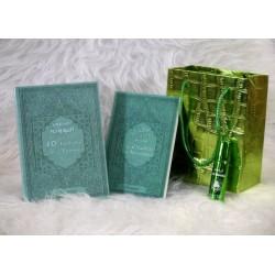 Blue green gift pack: Books Les 40 hadiths nawawî & La Citadelle du Muslim (bilingual...
