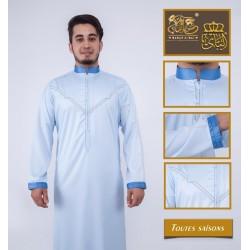 Qamis élégant de qualité supérieure couleur bleu ciel
