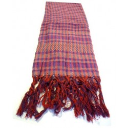 Palestinian scarf with red and purple checks (100% cotton)