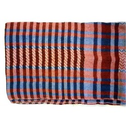 Palestinian scarf with red and blue checks (100% cotton)