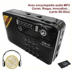 Lecteur MP3 + Radio (FM/AM/SW) avec clavier et carte MicroSD de 8 Go préchargée par de...