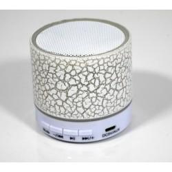 Lampe-lecteur MP3 Blanc - Bluetooth - Radio FM avec carte MicroSD de 8 Go préchargée...