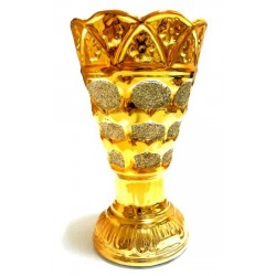 Golden porcelain censer