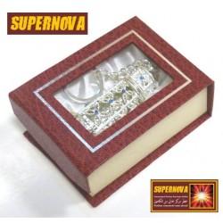 "Perfume Silver metallic keychain Musk d'Or ""Supernova"" (3 ml) - For men"