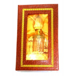 "Musc d'Or perfume ""Nawel"" in crystal bottle decorated with a flower - For women"