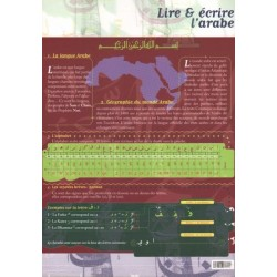 """Dépliant """"Lire et écrire l'arabe"""""""