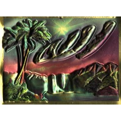 Poster - Molded relief painting - with the name of Allah