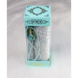 Muslim gift box: Prayer carpets + Sebha (Misbaha) - Green water color