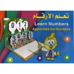 Apprendre les nombres : Livre d'apprentissage avec figurines et tableau d'écriture...