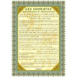 Poster : Les Sourates indispensables et protectrices : Al-Fâtiha, Ayat Al-Kursî...