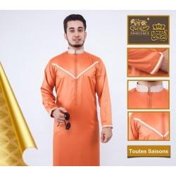 Stylish Qamis of premium orange color for men