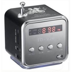 Lecteur MP3 sous forme de Mini Haut-parleur portable avec Carte Micro SD (8 Go)...