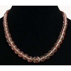 Ethnic artisanal necklace imitation transparent balls embellished with two golden stars...