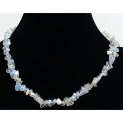Ethnic artisanal necklace imitation transparent quartz