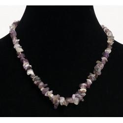 Ethnic handmade necklace imitation quartz multicolor