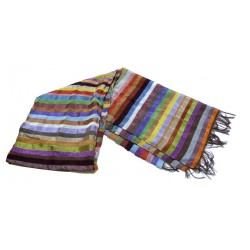 Moroccan sabra fabric stole scarf in shimmering colors