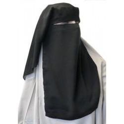 Niqab (Sitar) black long 3 pieces