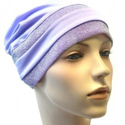 Purple hat with two glitter bands in purple