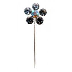 5 pearl flower brooch pin