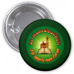 "Badge ""Al-Hamdoulillâh: I learned my Koran"" (Green)"
